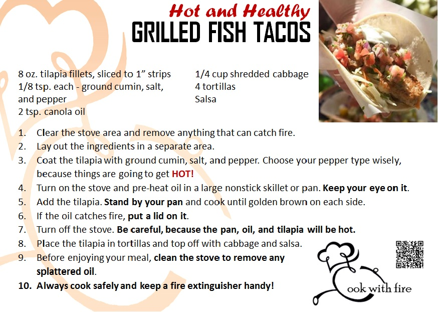 Cinco de mayo with grilled fish tacos orange county safe for Healthy fish taco recipe